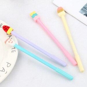 20 шт. креативные канцтовары в виде мороженого и гелевая ручка летний свежий мороженое гелевая ручка с черными ручка студенческие канцелярс...