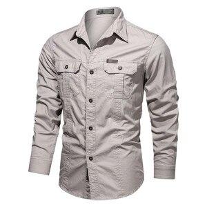 Новая мужская повседневная рубашка 4XL 5XL мужской на каждый день, рубашки 2021 Военная Униформа хлопковые рубашки брендовая мужская одежда, одежда для отдыха, рубашка, блузка