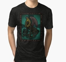 Camiseta para hombre Nyarlathotep Icon 2 Azhmodai 2018 Tri blend, camiseta estampada, camiseta, top