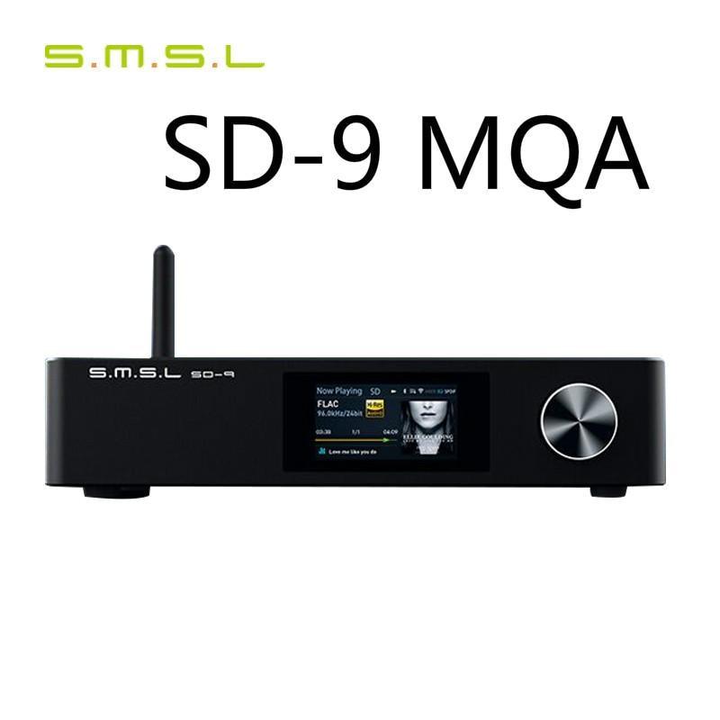 SMSL SD-9 SD9 MQA فك كامل HIFI شبكة مشغل موسيقى SD9 دعم DSD ، WAV APE ، FLAC AIFF ، بلوتوث DLNA MP3 مشغل سطح المكتب