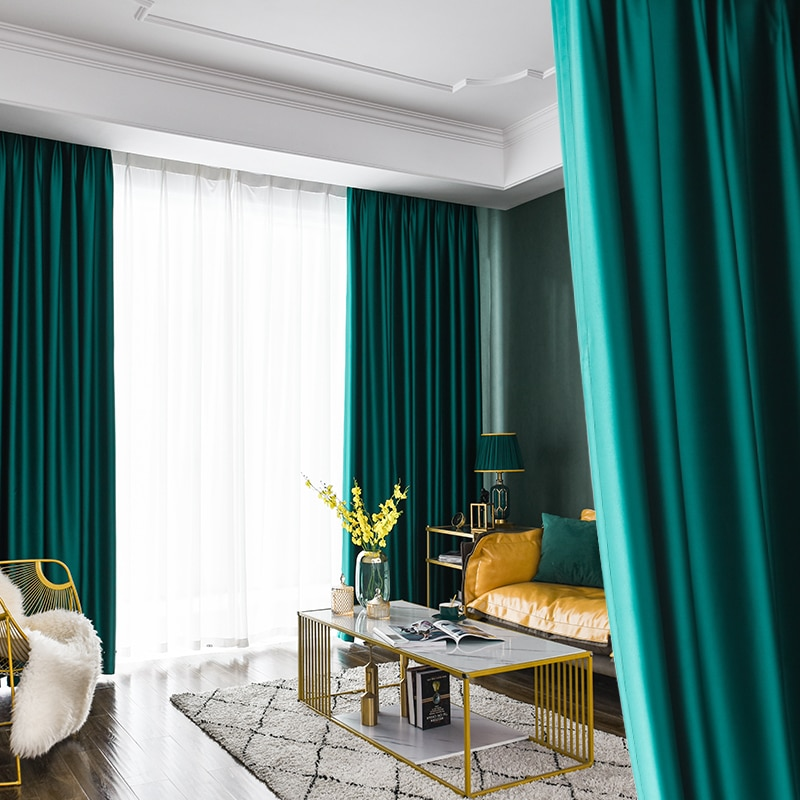 P.granatum Blackout Curtains Room Decor Bedroom Thermal Insulated Living Room Curtains Solid Classic Drapes Home Textiles