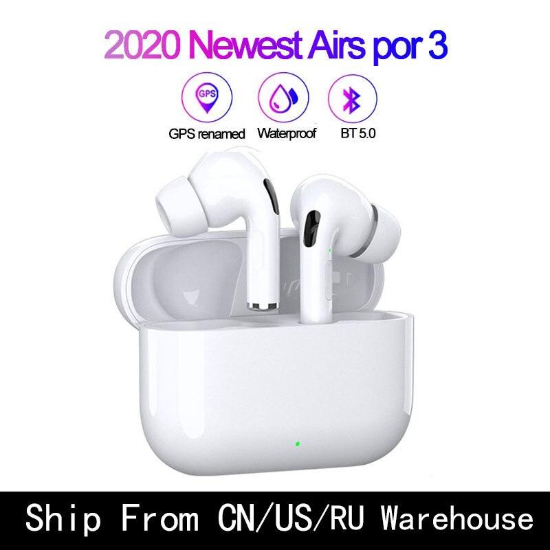 Original Pro 3 TWS 11 clon airpoding soporte Rename GPS auriculares inalámbricos auriculares Bluetooth auricular PK I9000