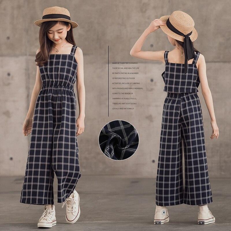 وزرة الأطفال 2021 الصيف جديد فتاة بذلة الأزياء منقوشة وزرة للأطفال ملابس المراهقين غير رسمية السروال القصير الفتيات السراويل 10 Y