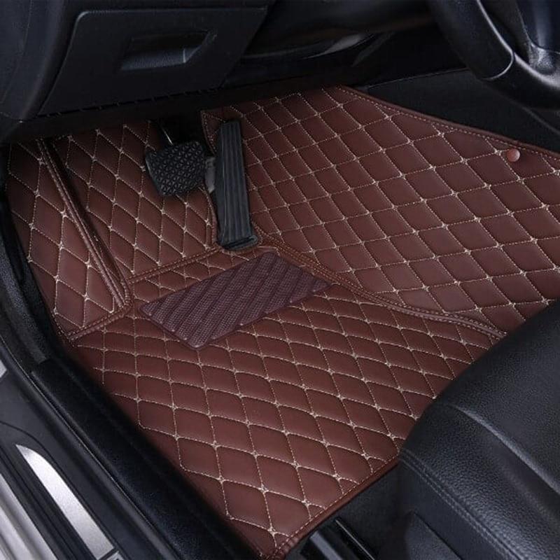 Alfombrilla personalizada para coche de 2 asientos para bmw, audi, vw, toyota, honda, alfombrillas para coche