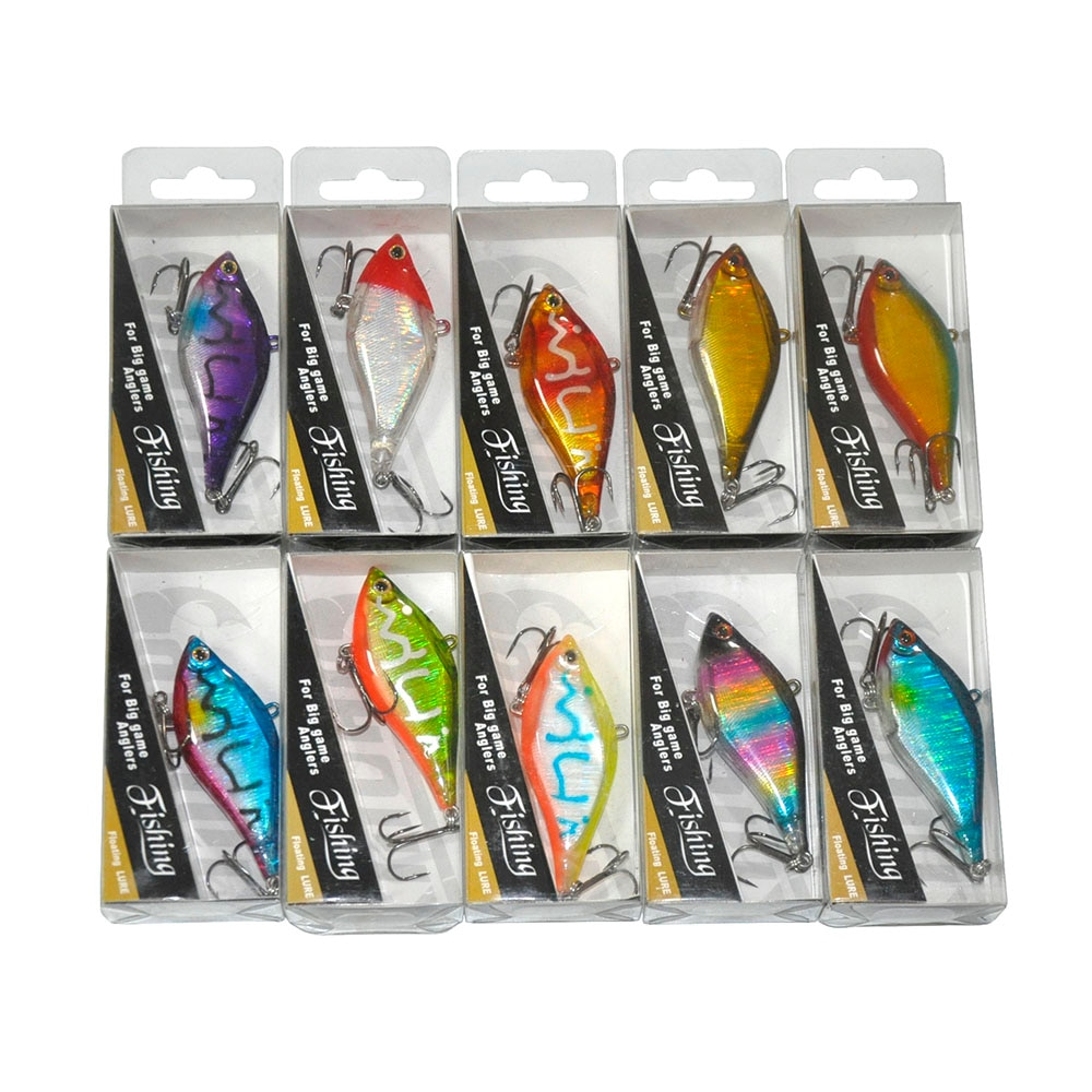 Mixed Lots of 40pcs 6.5cm 7cm 9cm 11cm Minnow Pencil Popper VIB Hard Fishing Lures Multi Colors enlarge