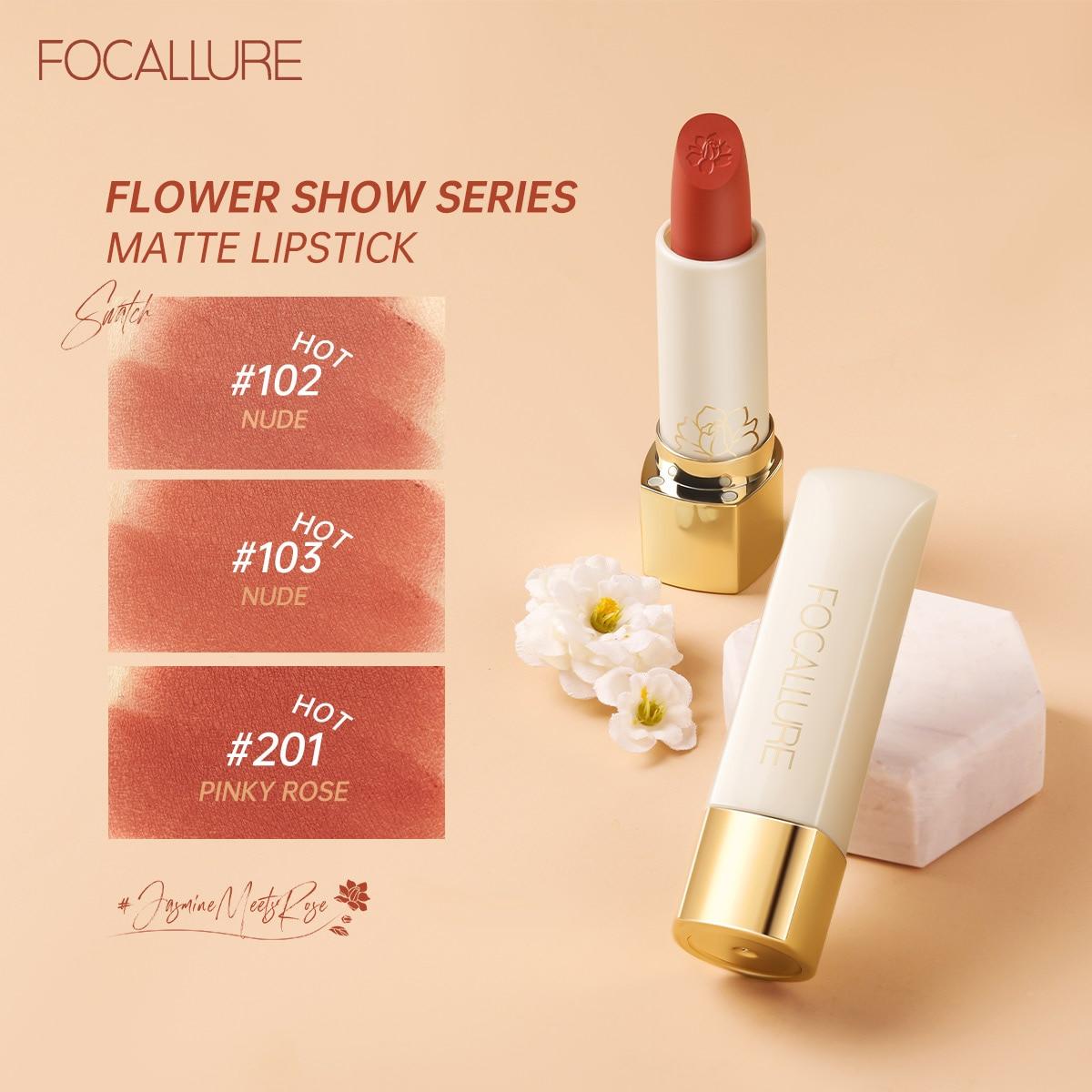 FOCALLURE Natural Matte Lipstick Waterproof Long Lasting Smooth Lip Stick Lightweight Lipsticks Make