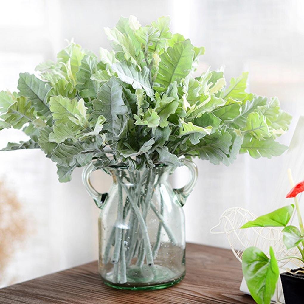 Hoja Artificial de planta para el hogar, oficina, vegetación, dormitorio, balcón, pasillo, decoración, fiesta, boda, evento, decoración, hojas de plantas falsas