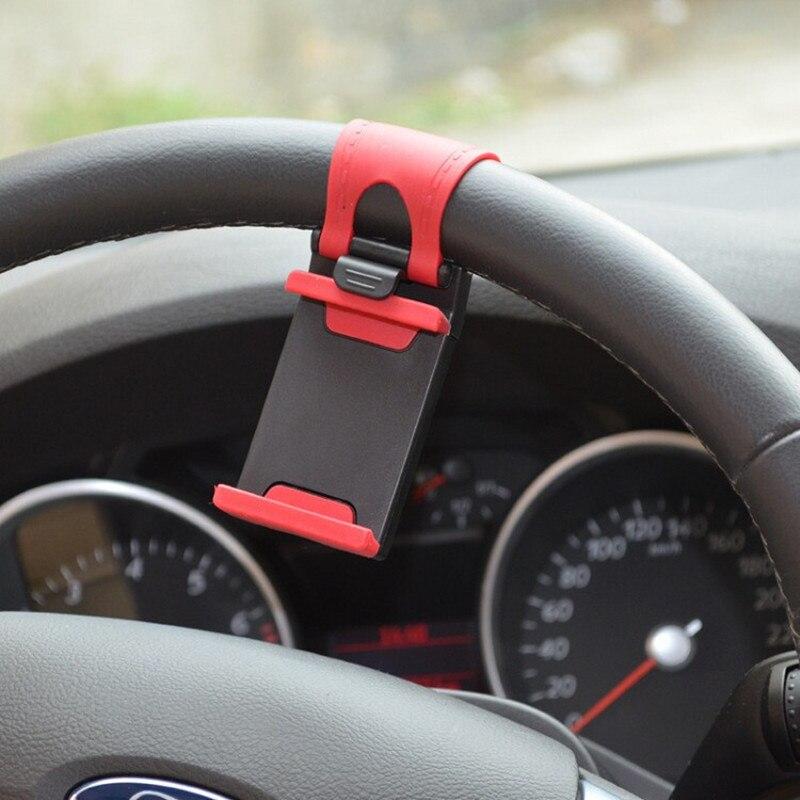 Soporte Universal de Clip para volante de coche, teléfono móvil con GPS para iPhone 11 Pro Max 8 7 7Plus 6 6s Samsung Xiaomi Huawei