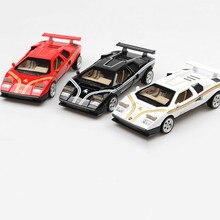 Escala quente 132 clássico diecast super esporte carro famoso bull lambor countach metal modelo puxar para trás brinquedo com som claro