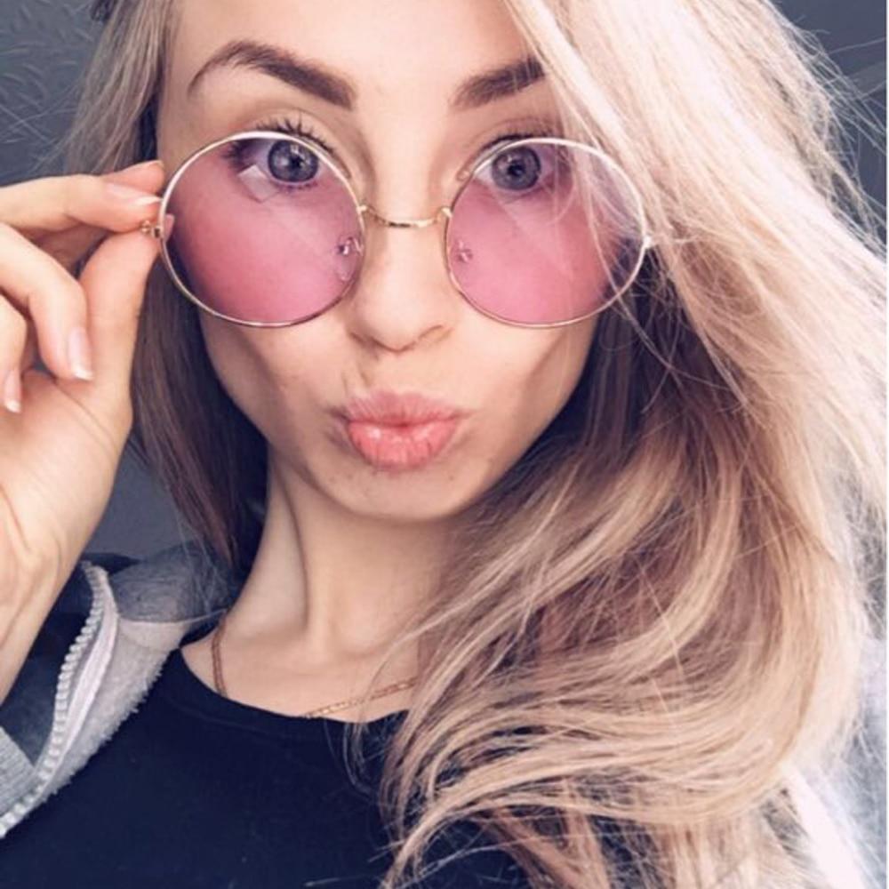 Fashion Multi-Color Retro Round Sunglasses Women Sun Glasses Lens Alloy Sunglasses female Eyewear Dr