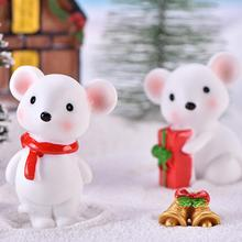 Cute New Year Little Mouse Model Minifigurine DIY Miniature Bonsai Ornaments
