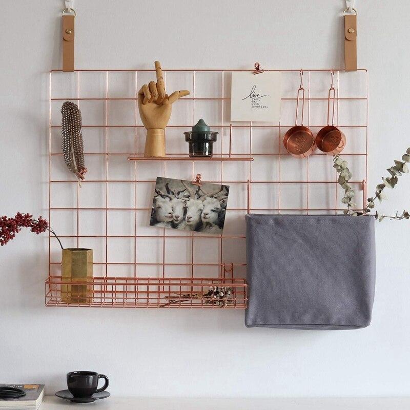 3 قطعة تخزين الرف جدار شبكة لوحة سلة حقيبة للحمل عرض الرف مع السنانير جدار منظم و تخزين الرف للمنزل المورد