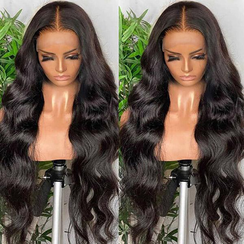 40inch Human Hair Wigs HD Lace Frontal Wig Body Wave Lace Front Human Hair Wigs Preplucked Hairline Wig Vendor Wholesale
