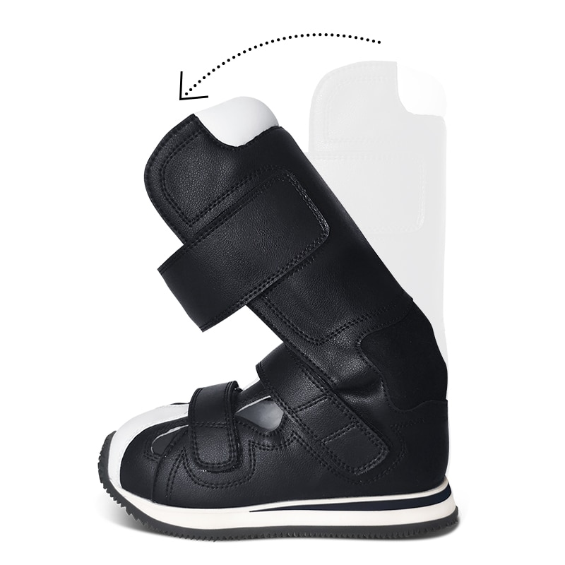 Children Shoes Genuine Leather Orthopedic Footwear For Kids Physiotherapy Corrective Cerebral Palsy Feet Heavy Black Brace Boots enlarge