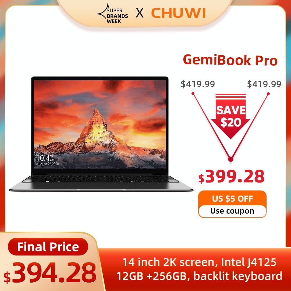حاسب محمول CHUWI GemiBook Pro بشاشة 14 بوصة 2K بذاكرة وصول عشوائي 12 جيجا بايت وذاكرة تخزين ثابتة 256 جيجا بايت كمبيوتر إنتل سيليرون رباعي النواة ويندوز 10 ...