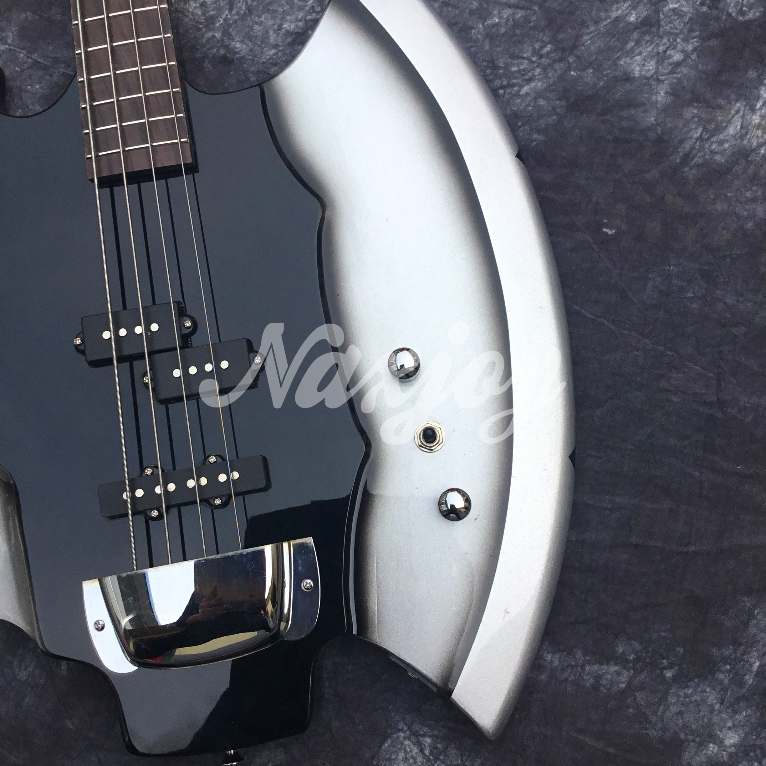 In Stock Cort GENE SIMMONS AXE 4 Strings Electric Bass Guitar with Bridge Cover enlarge