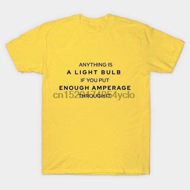 Homens t-shirt Light Bulb camisetas Mulheres t camisa