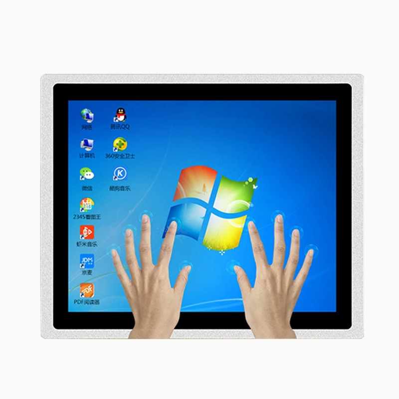 12.1inch touch screen industrial computer i7-6650 4G 64g WiFi com win7/win10 embedded capacitive all in one panel pc IP65