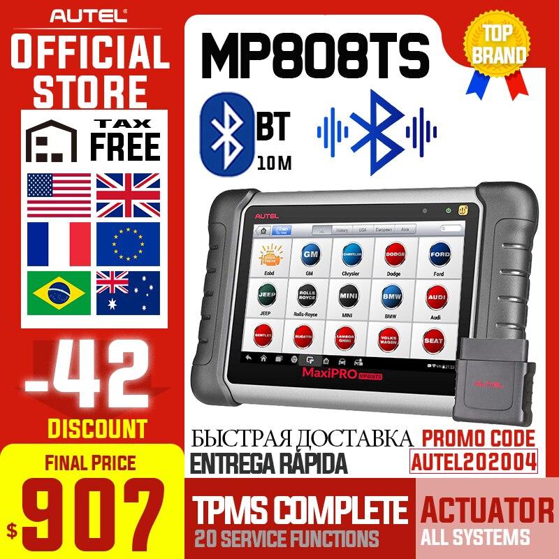 Autel MaxiPRO MP808TS herramienta de autodiagnóstico profesional escáner de aceite TPMS restablecer EPB BMS SAS DPF IMMO como DS808 + TS601 PK MK808