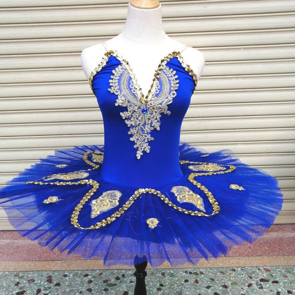 Vestido de Ballet para niñas, nuevas faldas tutú, lentejuelas, RoyalBlue, ropa mullido...