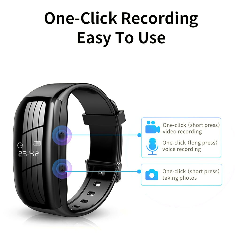 Mini Camera 1080P HD DV Professional Digital Voice Video Recorder Dictaphone Small Micro Watch Sound Home Secret Wristband Noise enlarge