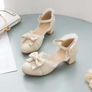 Girls Leather Shoes High heel Shoes Kids Princess Sandals Fashion Butterfly knot Female Children High heels For Party Wedding