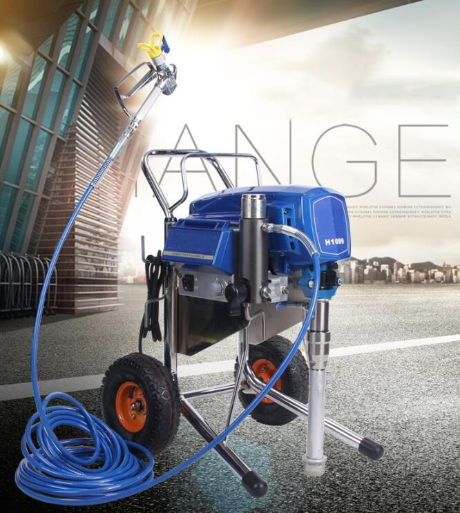 Large Electric Airless Sprayer 4000W High Pressure Automatic spraying machine For spraying Fireproof coating for steel structure enlarge