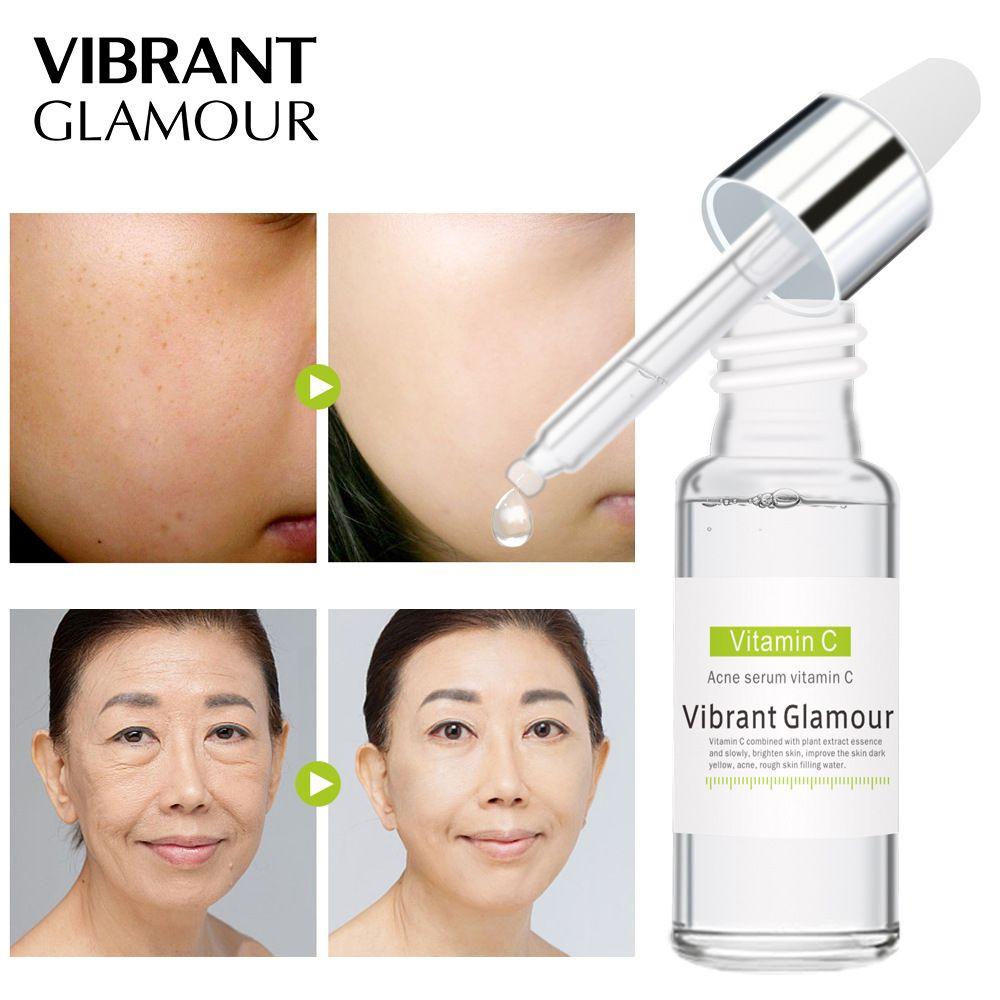 VIBRANT GLAMOUR Vitamin C Essence Acne Treatment Face Serum Moisturizing Repair Acne Scars Shrink Pore Face Serum Skin Care недорого
