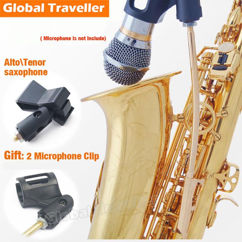 1 piece Sax Microphone Stand Clip Eb Alto Bb Tenor Sax Saxophone Wireless Microphone Performance Stand Clip