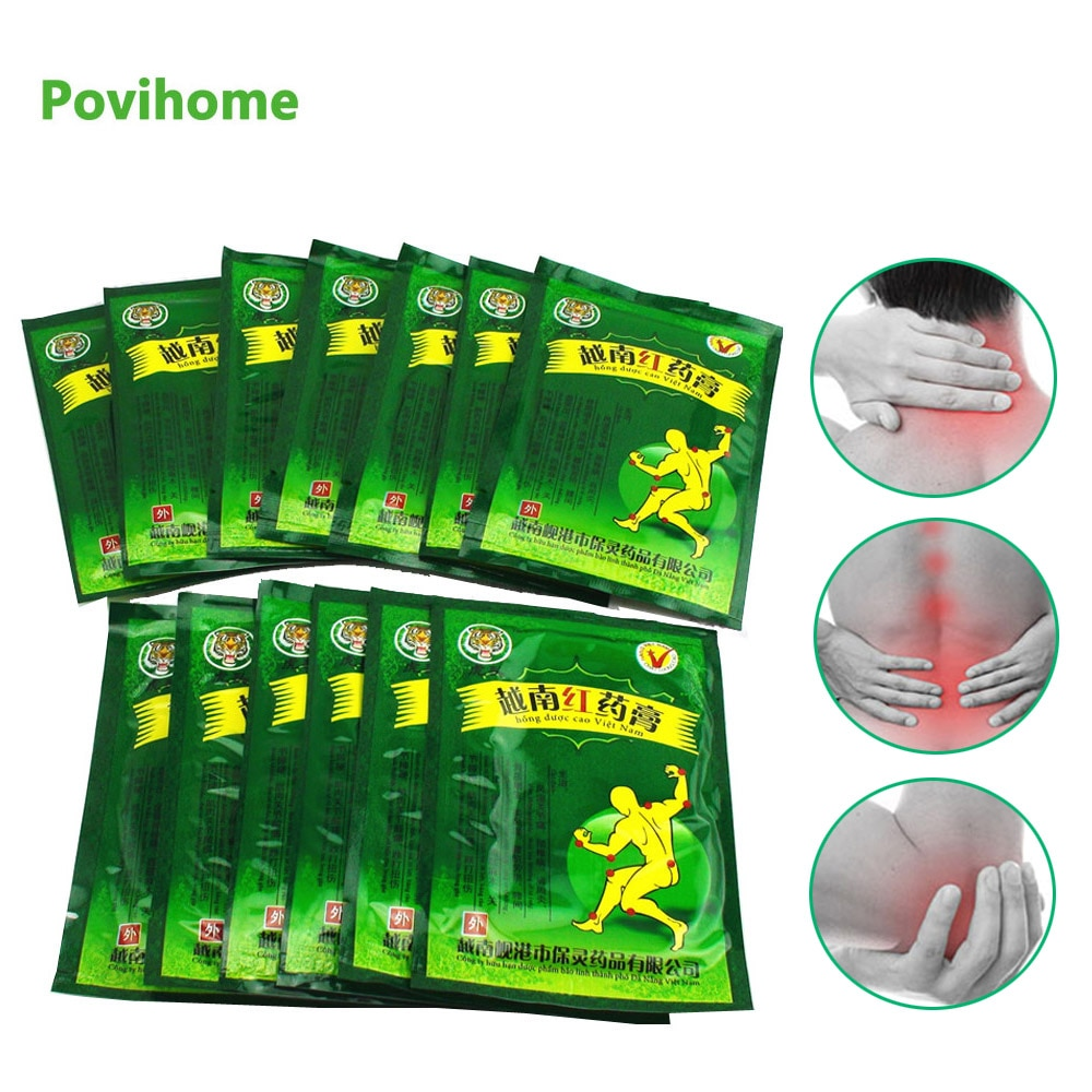 104pcs Vietnam Red Tiger Balm Plaster Body Neck Back Pain Relief Patch Arthritis Cervical Herbal Medical Plaster C162
