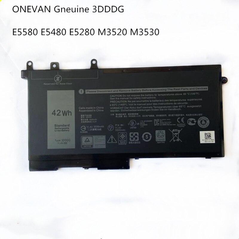 ONEVAN حقيقية 3DDDG بطارية كمبيوتر محمول لديل خط العرض 5280 5288 5480 5580 5490 5590 5491 5591 5495 5488 M3520 M3530 سلسلة