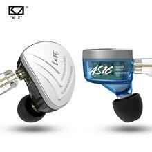KZ AS16 16BA unidades armadura equilibrada Hifi Bass In Ear Monitor auriculares con cancelación de ruido auriculares para TIN P1 ZS10 ZSX