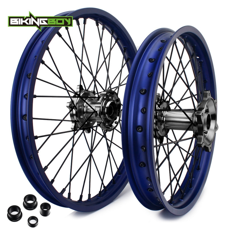 "BIKINGBOY para Yamaha YZ250 YZ450F YZF 250 YZ-F 450 09 10 11 12 13 14 15 16 17 18 19 Motocross delantero trasero 21 ""18"" llantas de ruedas de centros de"
