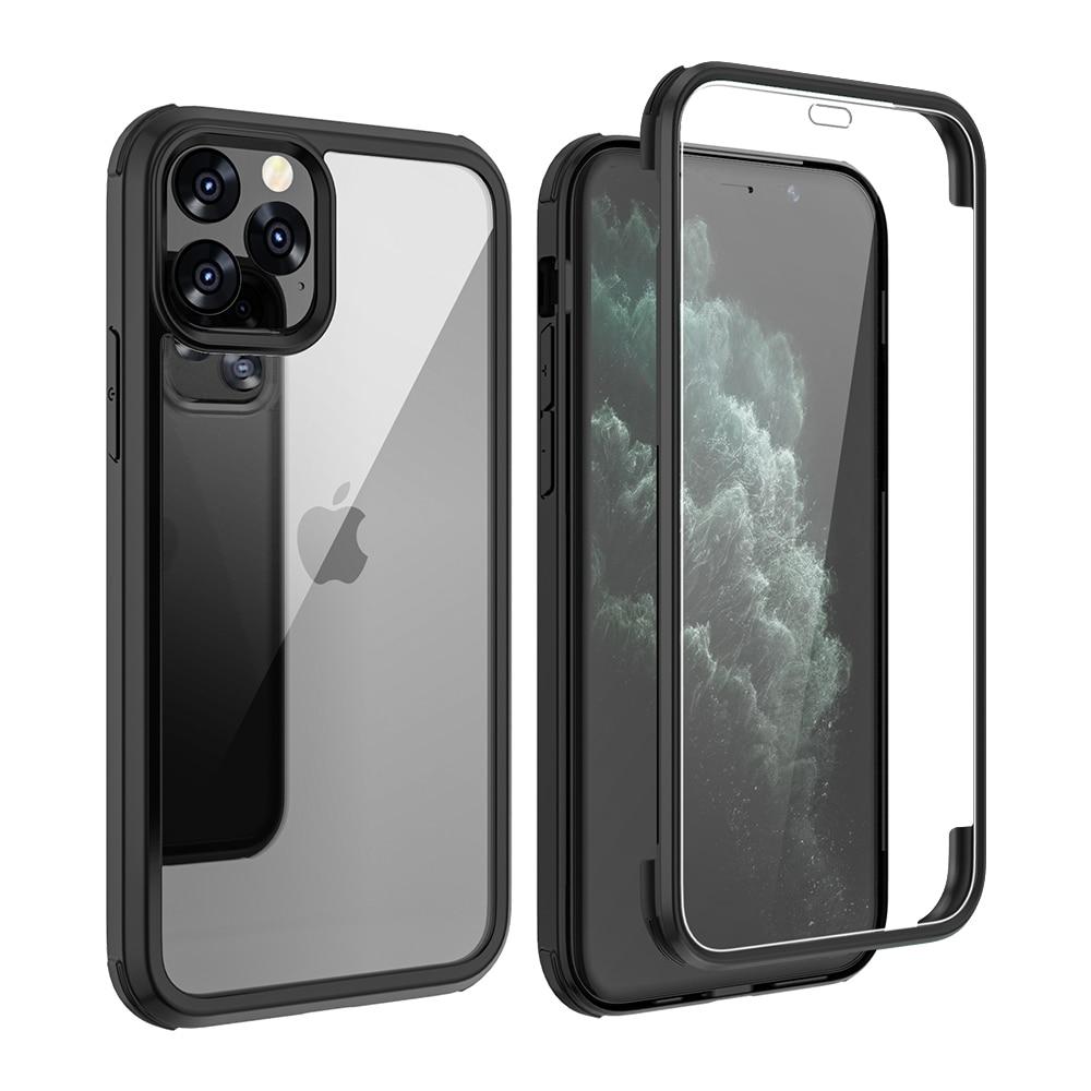 Para iPhone 11 Pro Max XS XR fundas de silicona suave marco Anti-golpe doble lado vidrio templado cubierta para iPhone SE 2020 7 8 conchas
