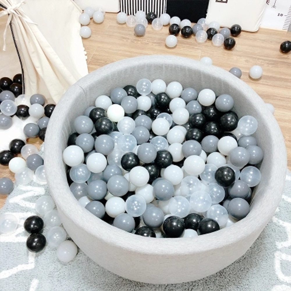 200 Pcs/Lot Plastic Balls Eco-Friendly Colorful Ball Soft Kid Swim Pit Toy Outdoor Ball Water Pool Ocean Wave Ball Dia 5.5 cm