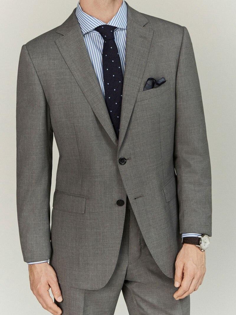 وسيم الرجال البدلات 2 قطعة مجموعة (سترة + السراويل) محفور التلبيب فضفاض الدعاوى حفل زفاف الذكية عادية معطف اليومي
