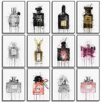 abstract graffiti various perfumes print on canvas painting wall art posters and pictures for living room bedroom decoration