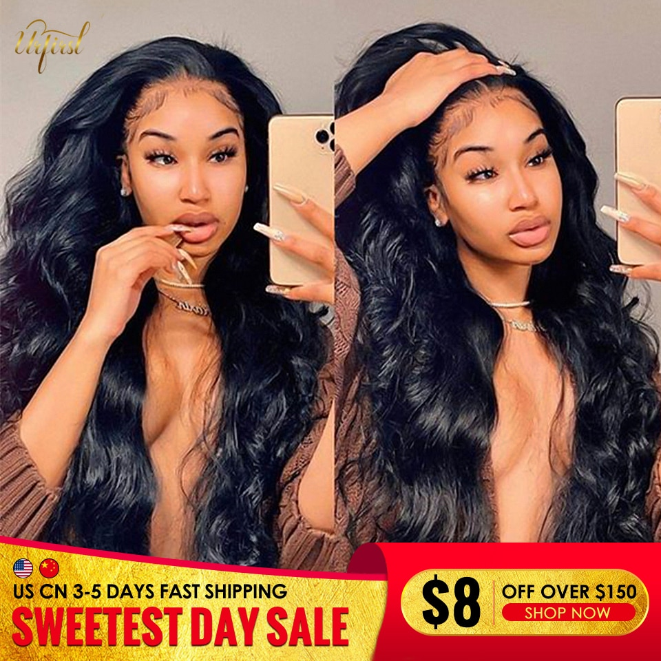 Transparent Body Wave Lace Front Wig Malaysian 13x4 Lace Frontal Human Hair Wigs For Black Women Remy Closure Wig Pre Plucked