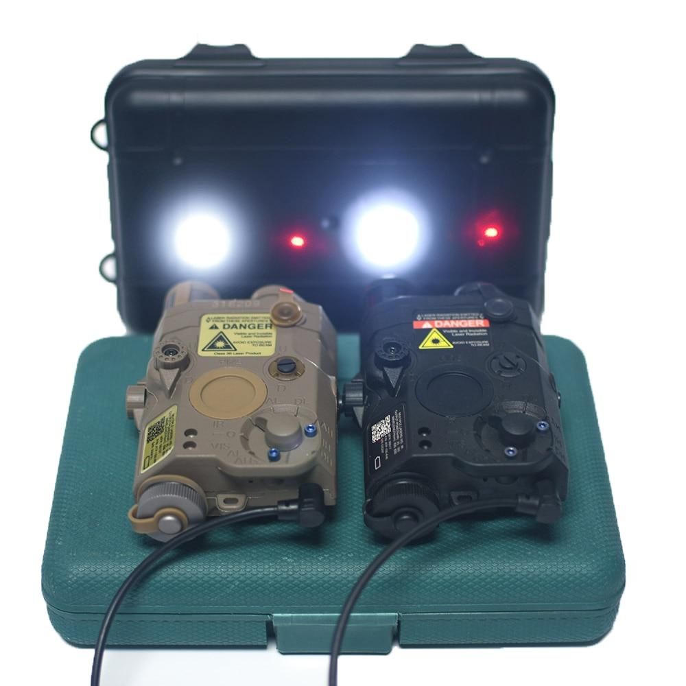 وادسن الادسنس PEQ15 AN/PEQ-15 ريد دوت ليزر + الأبيض مصباح ليد جيب + الأشعة تحت الحمراء ليزر سلاح ضوء بندقية الصيد البطارية حالة صالح 20 مللي متر السكك ...