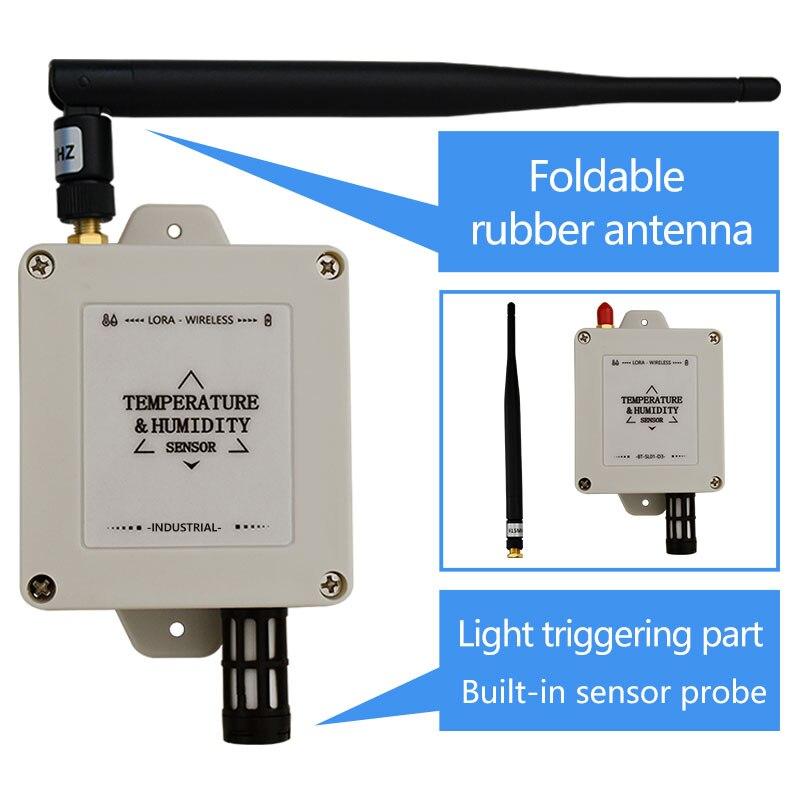 Registrador de humedad inalámbrico LoRa Sensor de temperatura transmisor inalámbrico 433 mhz/470 mhz/868 mhz/915 mhz