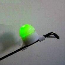 Strike Alert Nacht Fishing Rod Tip Clip auf Fische Beißen Alarm Licht Elektronische Angeln Locken mit Stange Adapter Angeln zubehör