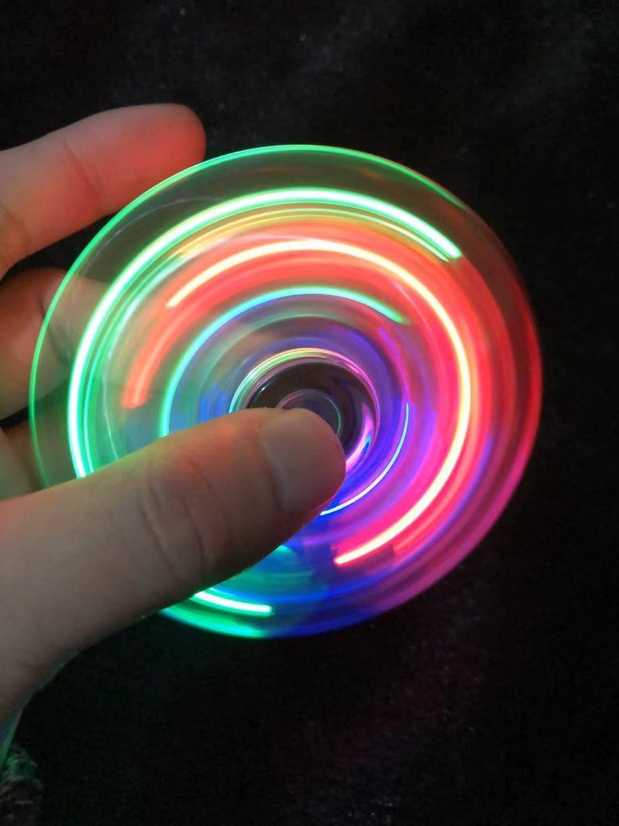 Giroscopio de cristal con dedos brillantes para adultos, juguete educativo para niños de clase colorida