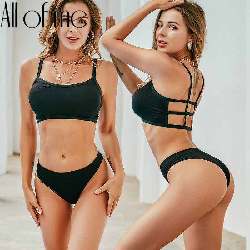 Backless Bra Set Women Underwear Seamless Bralette Sexy Lingerie Panties + Bra Female Brassiere Fitness Tube Tank Crop Tops Suit