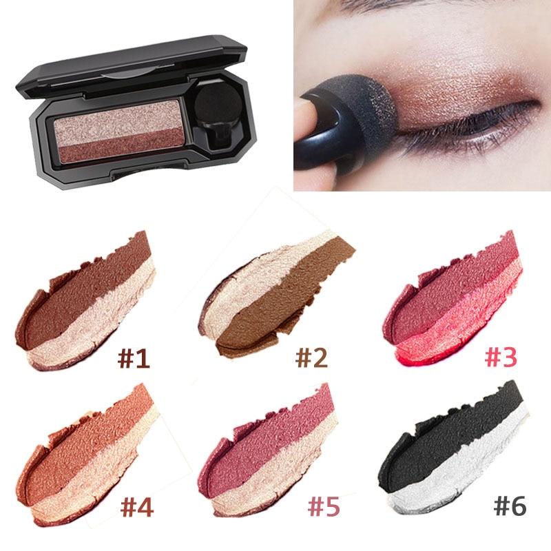 Double Color Lazy Eye Shadow Makeup Palette Glitter Palette Eyeshadow Pallete Waterproof Glitter Eyeshadow Shimmer Cosmetics недорого