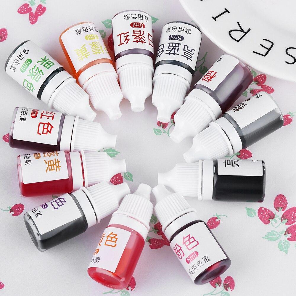 Ingredientes para coloración de alimentos y crema de 5ML, pigmento de Color comestible para pasteles, Fondant, pasteles, horno doméstico para cocina y pastelería
