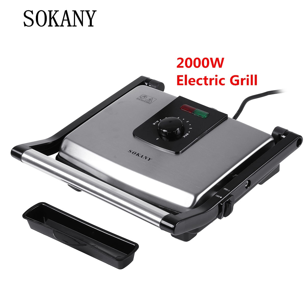 1600w electric shabu roasted pot multifunctional electric pan grill bbq grill raclette grill electric hotpot with grill pan SOKANY 2000W Electric Grill BBQ Grill Oven Home Appliances Smokeless Electric Hotplate Smokeless Grilled Meat Pan Electric Grill