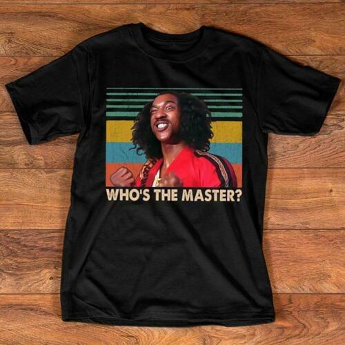 Shonuff The Last Dragon Whos The Master T Shirt negro algodón hombres S-6XL camiseta Casual Hombre Ropa