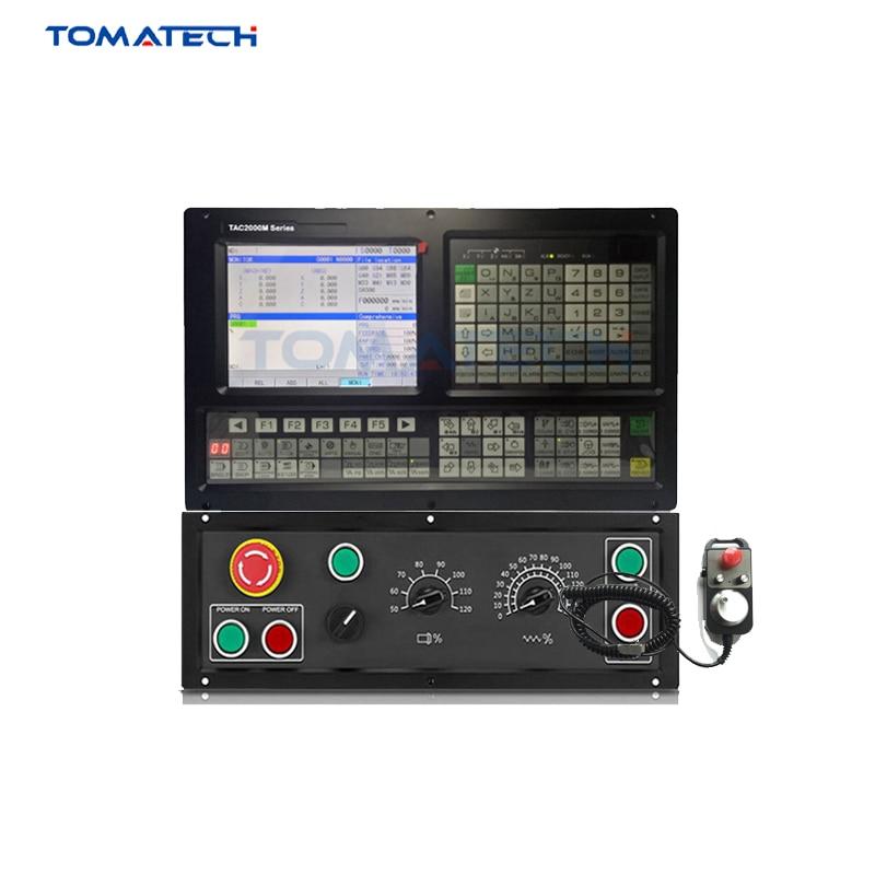 Pantalla de alta calidad de 8 pulgadas TOMATECH TAC2004M controlador de fresado CNC de 4 ejes con panel de operación adicional