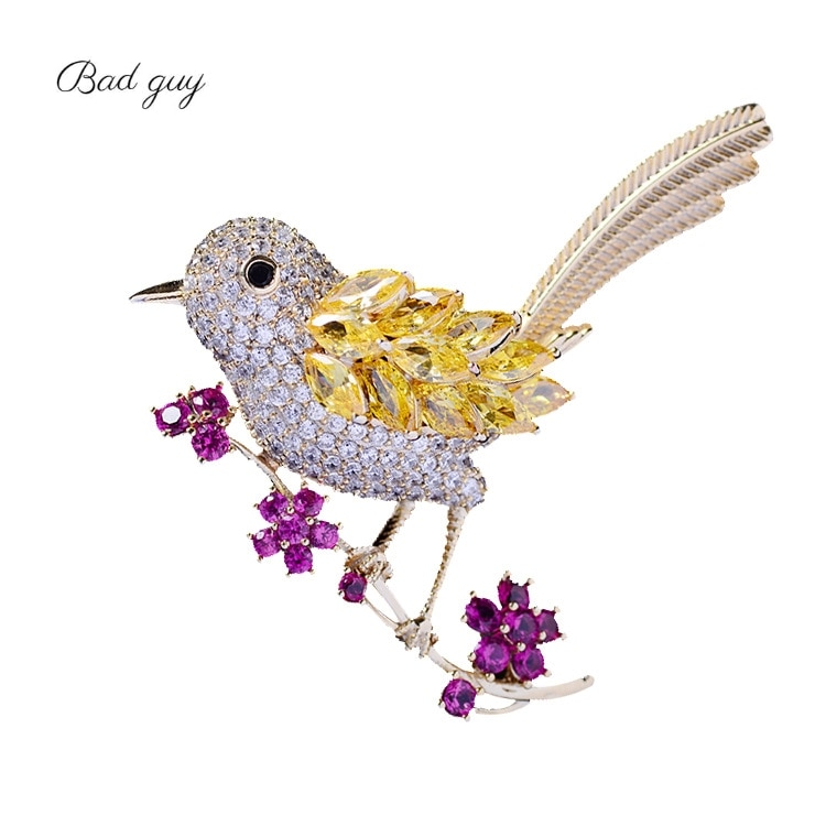 Bird Brooch Pins Magnet Pin Cute Pins Accessories for Clothes Decoration Brooch Pins Fine Jewelry Copper Brooch Zircon Brooche