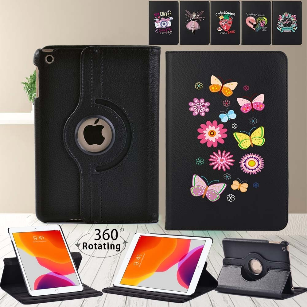 Anti-Dust Tablet Case for Apple Ipad Mini 4/5/ipad 2/3/4/IPad (5th/6th/7th/8th Gen) - 360 Degree Rotating Cover Case + Stylus
